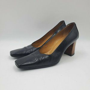 Gucci Vintage Square Toe Block High Heels sz 6.5B